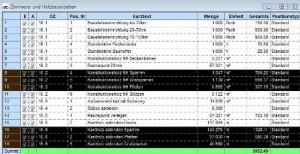 Leistungsverzeichnis Zimmerer