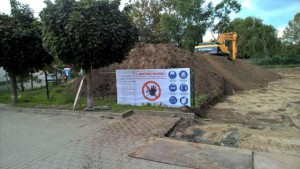 Mutterboden wird abgetragen